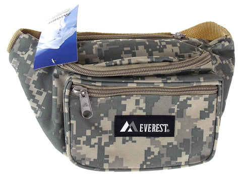 "Everest Fanny Pack Camouflage Digital Camo Waist Pack 3 Zipper Compartments 46"" - FUNsational Finds - 1"