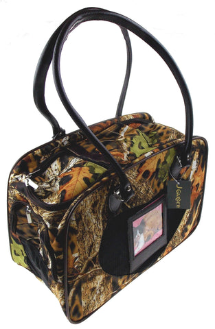 Pet Carrier Travel Bag Real Tree Camo Leaves Softsided Shoulder Airline Approved - FUNsational Finds - 1