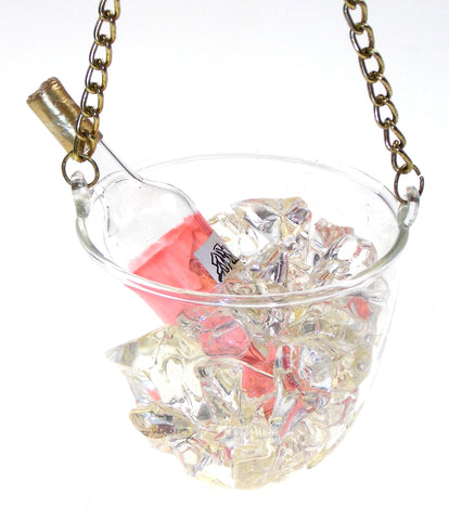 Ganz Champagne Bucket Bottle Ice Christmas Tree Ornament Holiday New Years Gift