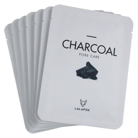 LALAFOX Premium Charcoal Face Mask 7 Pack Set Daily Skin Facial Beauty Sheet Lot