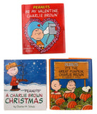 Peanuts Holiday Set 3 Mini Books Charlie Brown Christmas Halloween Valentine