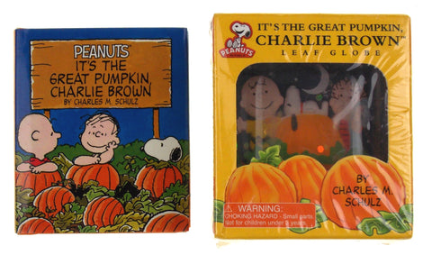 Peanuts It's The Great Pumpkin Charlie Brown Leaf Globe Halloween Mini Book Lot