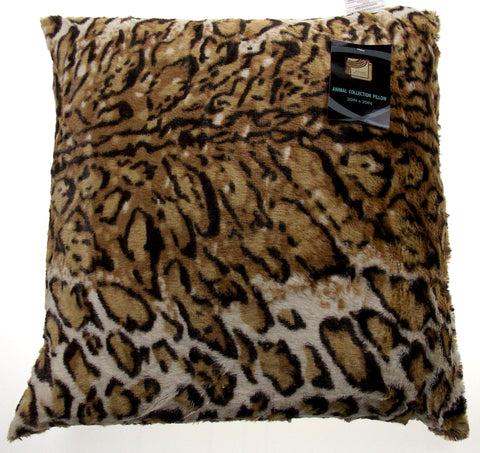Cheetah Plush Throw Pillow Animal Collection 20x20 Polyester Living Room Sofa - FUNsational Finds - 1