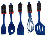 Set 9 Blue Kitchen Utensil Silicone Chef Craft Wisk Tongs Turner Spoon Spatula - FUNsational Finds - 3
