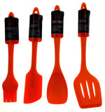 Set of 7 Orange Kitchen Utensil Silicone Chef Craft Mixing Spoon Spatula Turner - FUNsational Finds - 2