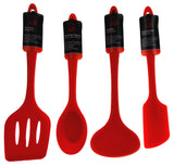 Set 7 Red Kitchen Utensil Silicone Chef Craft Ladle Basting Brush Mixing Spoon - FUNsational Finds - 2