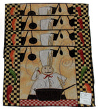 Mexican Chef Set of 4 Placemats 13x19 Kitchen Peppers Pots & Pans Dining Table - FUNsational Finds - 2