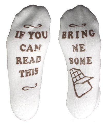 Socks If You Can Read This Bring Me Some Chocolate Non Slip Low Cut Half Cushion