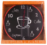 "Coffee Clock Latte Espresso Wall Kitchen Decor G Fun & Sassy 10"" Round Battery - FUNsational Finds - 1"