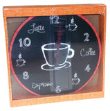 "Coffee Clock Latte Espresso Wall Kitchen Decor G Fun & Sassy 10"" Round Battery - FUNsational Finds - 2"