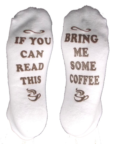 Socks If You Can Read This Bring Me Some Coffee Non Slip Low Cut Half Cushion