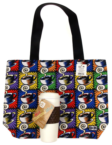 Coffee Mug Cappuccino Tote Bag Zippered Set 2 Artist Burton Morris Holiday Gift - FUNsational Finds - 1