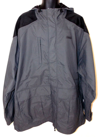 Coleman Chilko River Parka Mens 2XL 3XL Waterproof Hood Covered Zipper 200D - FUNsational Finds - 1