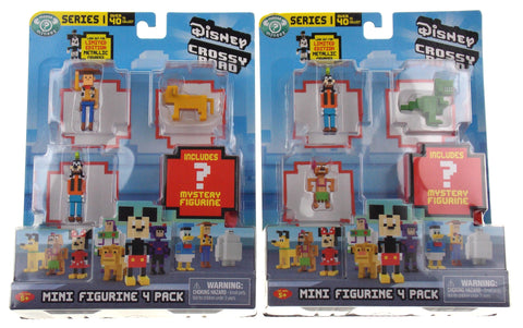 Disney Crossy Road Mini Figurine 4 Pack Lot 2 Series 1 Woody Pluto Rex Timon Set