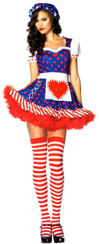 Leg Avenue Darling Dollie Sexy Halloween Costume Cosplay Dress Bonnet S M 83777 - FUNsational Finds - 1