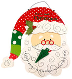 Large Santa Head Count Down Until Christmas Wood Calendar Wall Hanging Sparkles - FUNsational Finds - 2