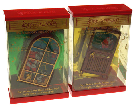 Songs & Memories Musical Ornaments Deck The Halls The Night Before Christmas Set