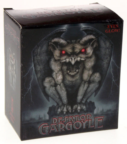 Lot of 2 Desktop Gargoyle Figure Red Eyes Light Up Glow Mega Mini Kit Book - FUNsational Finds - 1