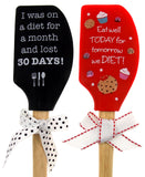 Set of 2 Red & Black Spatula Diet Tomorrow Eat Well Today Lost 30 Days Brownlow - FUNsational Finds - 1