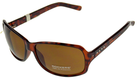 Levi Strauss DOCKERS Sunglasses 100%UV Rectangular Brown Plastic Large 63-16-135 - FUNsational Finds - 1