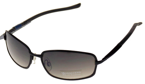 Levi Strauss DOCKERS Sunglasses 100%UV Oval Rectangle Black Gray Metal 59-17-135 - FUNsational Finds - 1