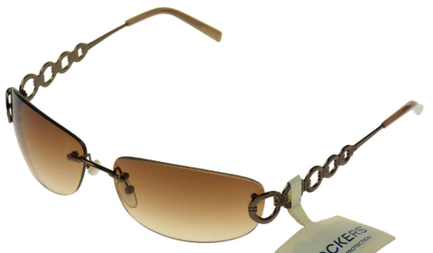 Levi Strauss DOCKERS Womens Sunglasses 100% UV Oval Rimless Gun Metal 70-15-130 - FUNsational Finds - 1