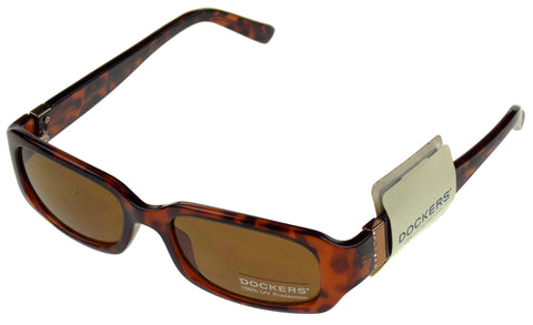 Levi Strauss DOCKERS Womens Sunglasses 100% UV Brown Marble Plastic 52-19-140 - FUNsational Finds - 1