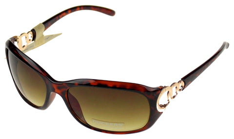 Levi Strauss DOCKERS Womens Sunglasses 100%UV Oval Brown Plastic 62-18-130 Large - FUNsational Finds - 1