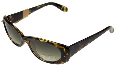 Levi Strauss DOCKERS Sunglasses 100% UV Oval Yellow Black Plastic 53-18-130 NEW - FUNsational Finds - 1