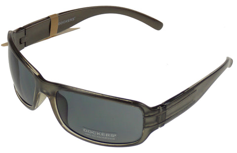 Levi Strauss DOCKERS Sunglasses 100%UV Rectangular Gray Plastic 62-20-130 Mens - FUNsational Finds - 1