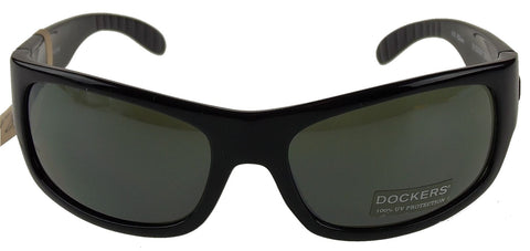 2a5e4cb305 ... Levi Strauss DOCKERS Sunglasses 100% UV Protection Black Plastic  60-18-130 Gray ...