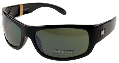 Levi Strauss DOCKERS Sunglasses 100% UV Protection Black Plastic 60-18-130 Gray - FUNsational Finds - 1