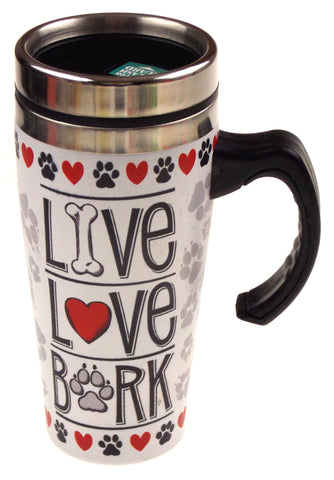 Britto Dog House Ornament & Coffee Travel Mug Live Love Bark Valentine Gift Xmas - FUNsational Finds - 2