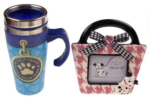 Lady Jayne Dog Ceramic Picture Frame Coffee Travel Mug Best Friend Has Four Paws - FUNsational Finds - 1