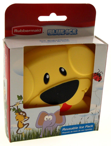 Rubbermaid Blue Ice Reusable Lunch Box Pack Yellow Puppy Dog Set of 2 Non Toxic - FUNsational Finds - 1