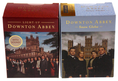 Downton Abbey Manor House Snow Globe Light Up Replica Sounds Mega Mini Kit Book - FUNsational Finds - 1