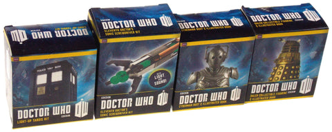 Set 4 Doctor Who BBC Tardis Dalek Cyberman Bust 11th Dr Sonic Screwdriver Lights - FUNsational Finds - 1