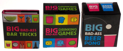 Lot of 3 Big Bad Ass Beer Pong Drinking Games Bar Tricks Mega Mini Kits Gag Gift - FUNsational Finds - 1