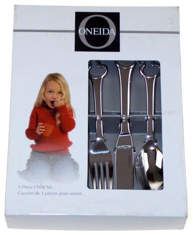 Oneida Duckling 3 Piece Child Set Silverware Flatware 18/10 SS Knife Fork Spoon - FUNsational Finds - 1