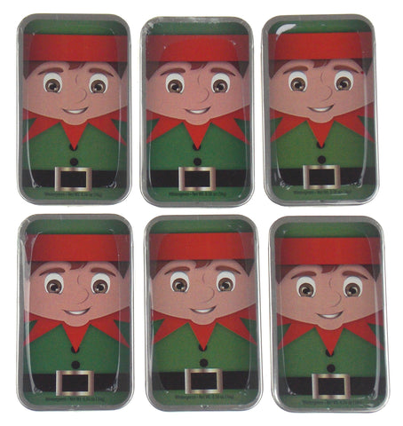 Amuse Mints Elf Tin SugarFree Wintergreen Mints Lot 6 Christmas in July