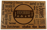 Laser Engraved Wood Euchre Box Set Coasters Deck Cards Suit Marker Score Keeper - FUNsational Finds - 8