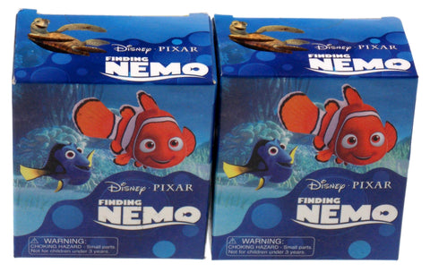 Lot 2 Disney Pixar Finding Nemo Fish Figurine Valentines Gift Magnets Mini Book - FUNsational Finds - 1