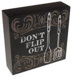 Prinz Don't Flip Out Plaque Home Decor Kitchen Wall Hanging Saying Sign Spatula - FUNsational Finds - 2