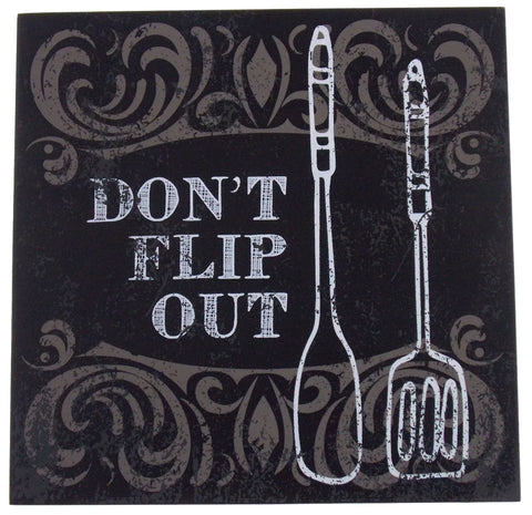 Prinz Don't Flip Out Plaque Home Decor Kitchen Wall Hanging Saying Sign Spatula - FUNsational Finds - 1