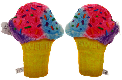 Set 2 Ice Cream Cone Pillow Food Fight Soft Realistic Sprinkles Plush Kids Decor - FUNsational Finds - 1