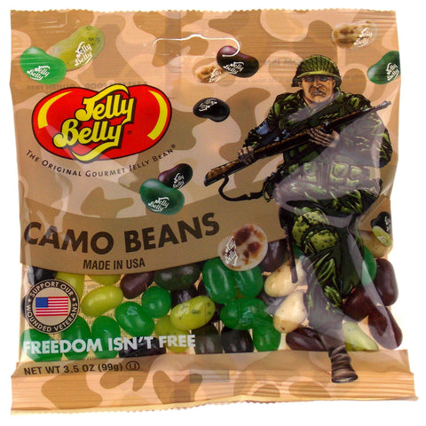 Jelly Belly Camo Beans Freedom Isn't Free Lot of 3 Bags 3.5 oz Military Made USA - FUNsational Finds - 1