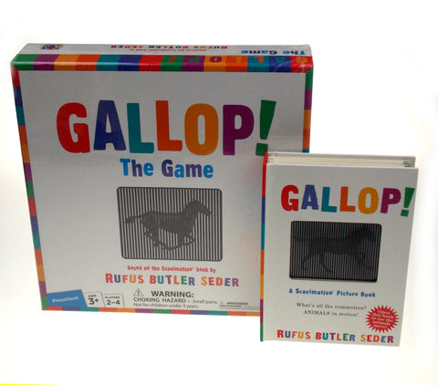 Gallop The Game Scanimation Book Set 2 Rufus Butler Seder Learning Preschoolers