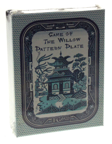 FG & Co Card Game of the Willow Pattern Plate Printed USA Tchin Reproduction