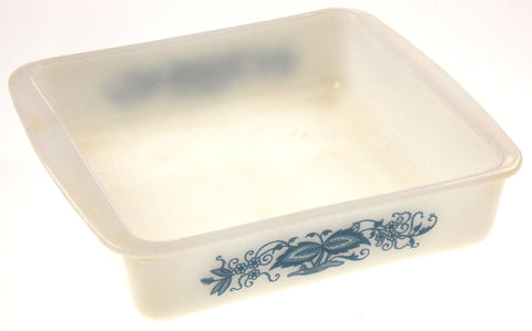 "Glasbake 8"" Square Casserole Baking Dish White Blue Flowers Made USA Vintage - FUNsational Finds - 1"