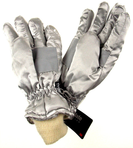 Joe Boxer Girls Gloves Silver Hearts Wings 3M Thinsulate 40g Waterproof Winter - FUNsational Finds - 1